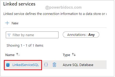 SQL Linked service