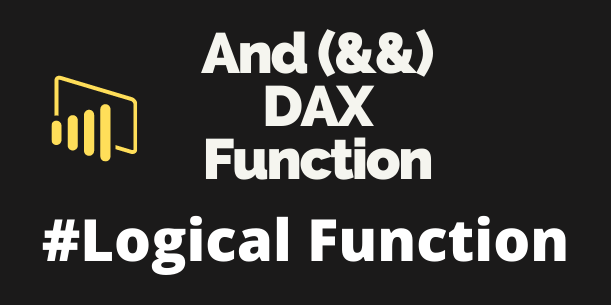 AND && DAX functions